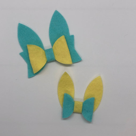 Double Bunny Ears Bow Plastic Template