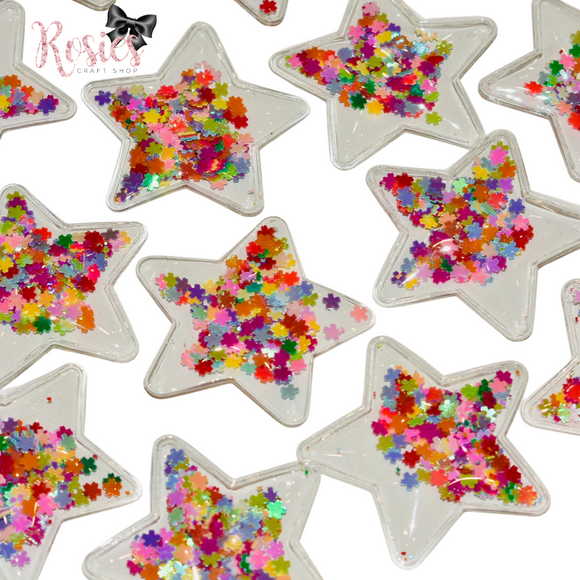 Star Shaped Flower Shaker Flat Backed Embellishment