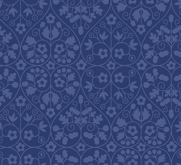 Gated Shadow in Blue by Liberty - The Orchard Garden - Rosie's Craft Shop Ltd