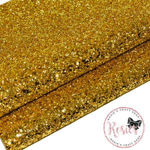 Gold Chunky Glitter Fabric - Luxury Core Collection