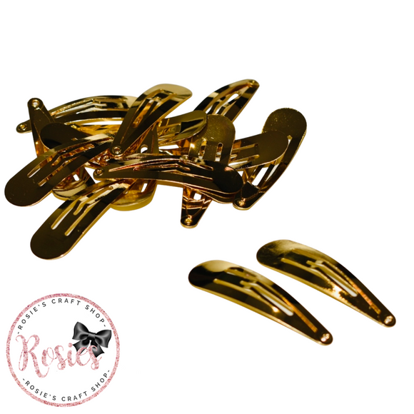 50mm Gold Snap Clips 5cm