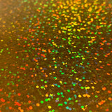 Gold Holographic Sparkle Iron On Vinyl HTV