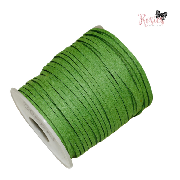 3mm Green Suede Cord