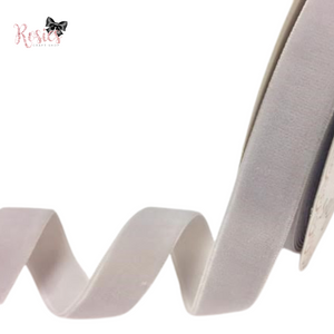 20mm Grey Velvet Ribbon