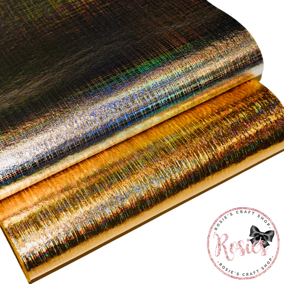 Holographic Leathered Effect Metallic Felt