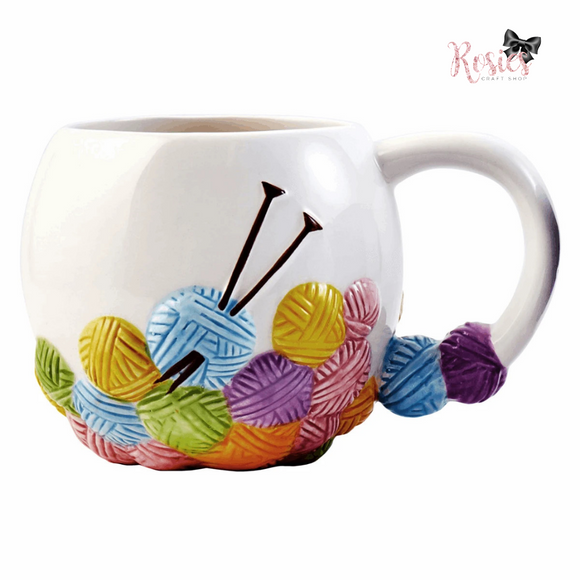 Knitting Design Novelty Ceramic Mug