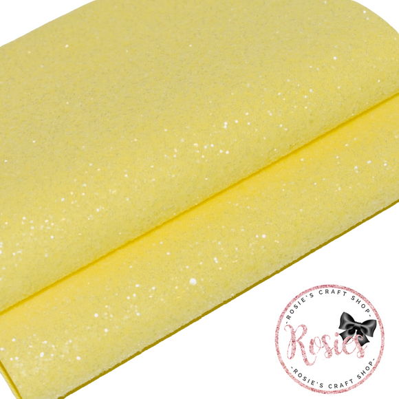 Lemon Sugar Frosted Chunky Glitter Fabric - Luxury Core Collection