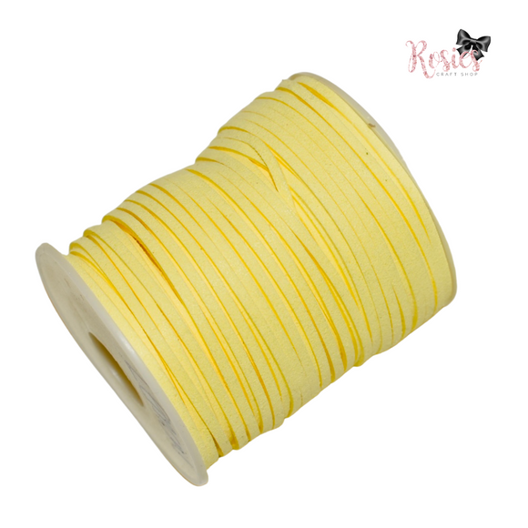 3mm Lemon Suede Cord