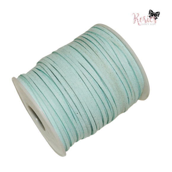 3mm Mint Suede Cord