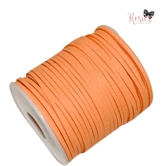 3mm Orange Suede Cord