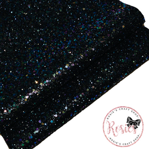 Petrol Chunky Glitter Fabric - Luxury Core Collection