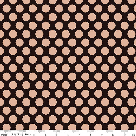 Black Gold Sparkle Dots - Glam Girls - Riley Blake Cotton Fabric