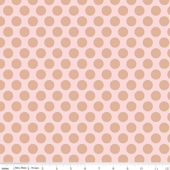 Pink Gold Sparkle Dots - Glam Girls by Riley Blake Cotton Fabric