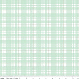 Mint Sparkle Metallic Tartan Designer Fabric Felt