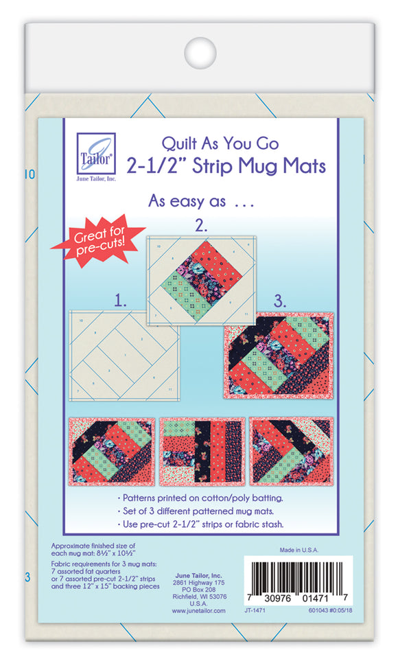 Strip Mug Mats by June Tailor Quilt As You Go