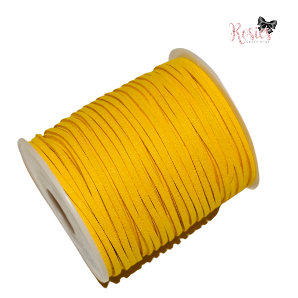 3mm Sunshine Yellow Suede Cord