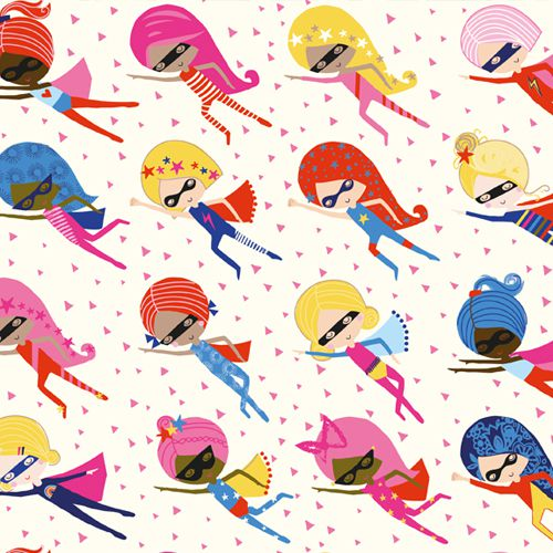 Super Girls - Playtime by Dashwood Studio 100% Cotton Fabric - Rosie's Craft Shop Ltd
