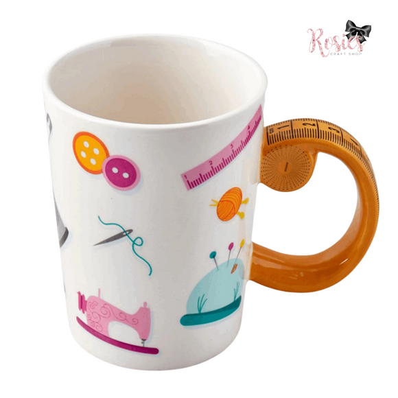 Tape Measure Handle Novelty Ceramic Mug