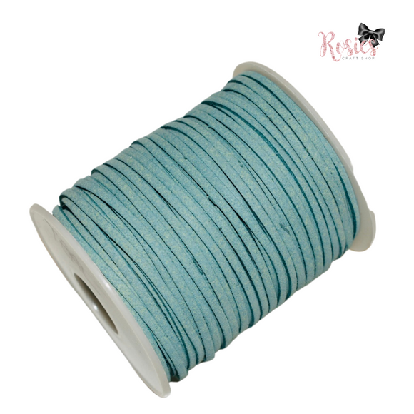 3mm Teal Suede Cord