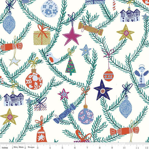 Tree Of Delight White/Multi - Liberty Season's Greetings Collection