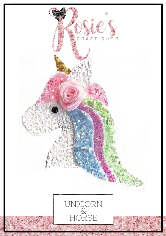 Unicorn Horse Die Compatible With Sizzix Big Shot