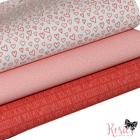 Valentine's Printed Bow Fabric Canvas - Be Mine Bundle 1