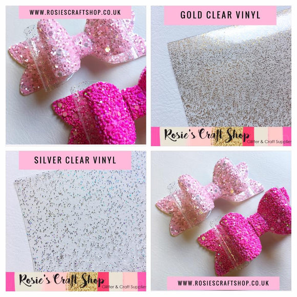 Clear Vinyl with Glitter - Rosie's Craft Shop Ltd