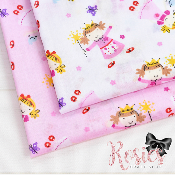 Magical Fairy & Wand Polycotton Fabric