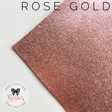 Rose Gold Brushed Metallic Stretch Iron On Vinyl HTV - Rosie's Craft Shop Ltd