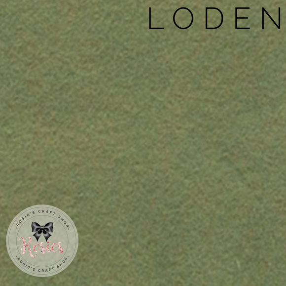 Loden Wool Blend Felt - Rosie's Craft Shop Ltd