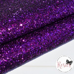 Purple Chunky Glitter Fabric - Luxury Core Collection - Rosie's Craft Shop Ltd