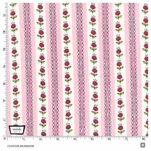 Clover Blossom - Let's Play Collection By Michael Miller - 100% Cotton Fabric - Rosie's Craft Shop Ltd