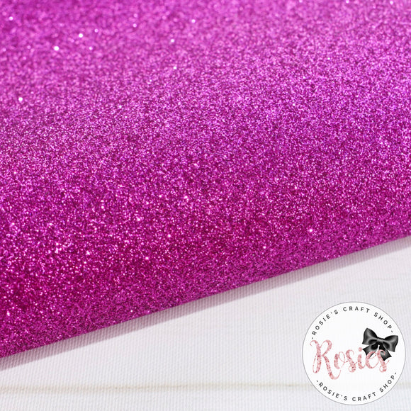 Fuchsia Premium Fine Glitter Topped Wool Felt - Rosie's Craft Shop Ltd