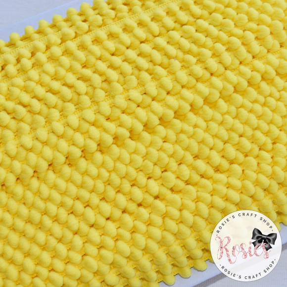 Yellow Mini Pom Pom Trim