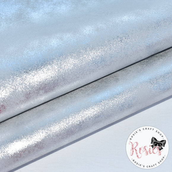 Silver Sparkle Blush Metallic Leatherette.