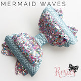 "3.5"" Mermaid Waves Double Bow Die Compatible with Sizzix Big Shot - Rosie's Craft Shop Ltd"
