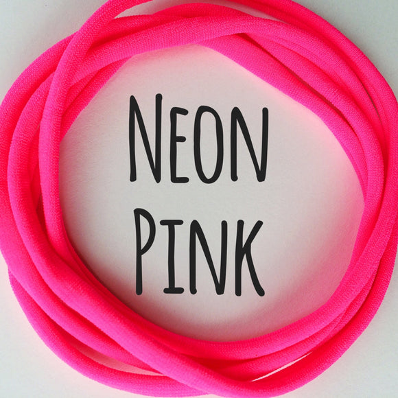 Neon Pink - Dainties by Nylon Headbands - Rosie's Craft Shop Ltd
