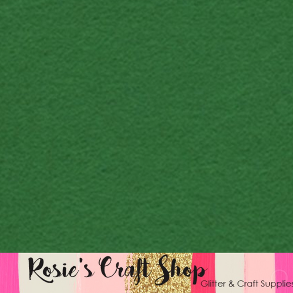 Kelly Green Wool Blend Felt - Rosie's Craft Shop Ltd