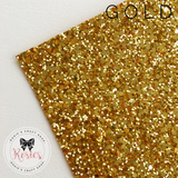 Gold Luxury Chunky Glitter Fabric - Classic Collection - Rosie's Craft Shop Ltd