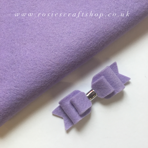 Field Of Lilacs Wool Blend Felt - Rosie's Craft Shop Ltd