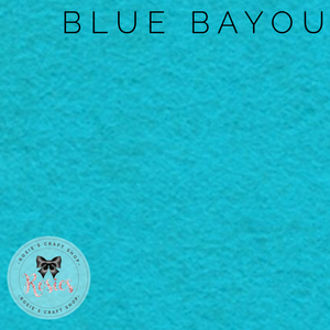 Blue Bayou Wool Blend Felt - Rosie's Craft Shop Ltd