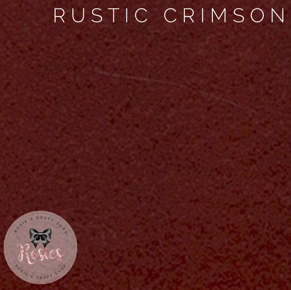 Rustic Crimson Wool Blend Felt - Rosie's Craft Shop Ltd