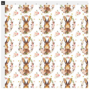 Some Bunny Loves You on White Artisan Fabric Felt - Rosie's Craft Shop Ltd