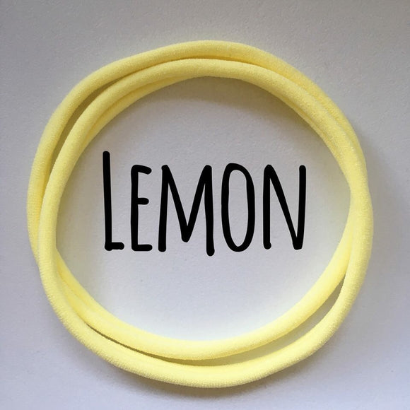 Lemon - Dainties by Nylon Headbands - Rosie's Craft Shop Ltd