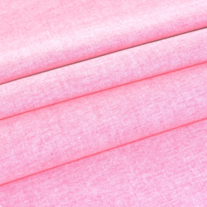 Bubblegum Pink Plain Chambray Cotton Fabric - Rosie's Craft Shop Ltd
