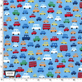 Blue Toot Toot Cars by Michael Miller - 100% Cotton Fabric - Rosie's Craft Shop Ltd