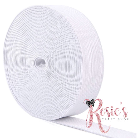12.5mm White Neckline/Hemline Elastic - Rosie's Craft Shop Ltd