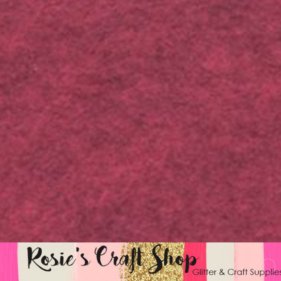 Ruby Red Slippers Wool Blend Felt - Rosie's Craft Shop Ltd
