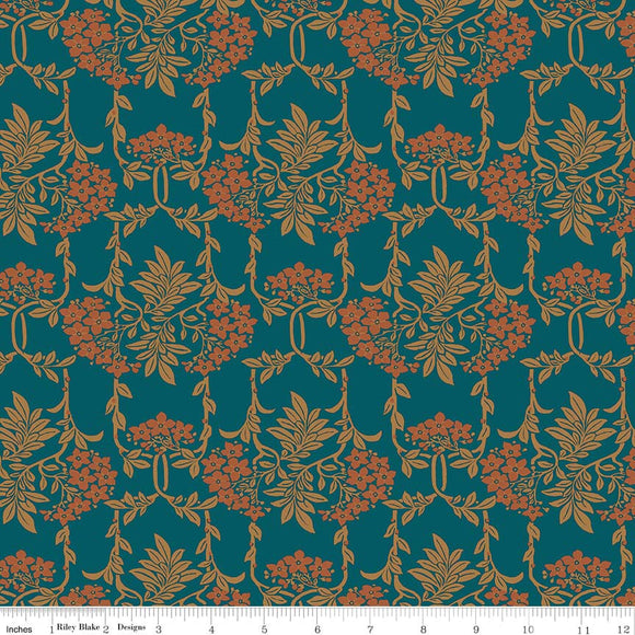 Nouveau Mayflower Orange - Liberty Hesketh House Collection