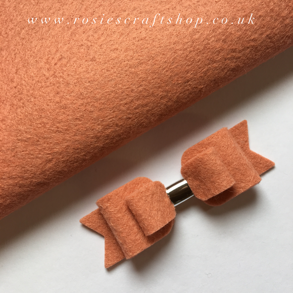 Pink Grapefruit Wool Blend Felt - Rosie's Craft Shop Ltd
